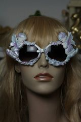 553 Praying Cherubs Hand Painted Pearlish Purple Fancy Sunglasses Eye Wear UV400