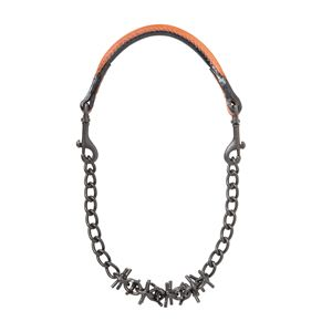Oil Rubbed Pronged Chain Goat Collar