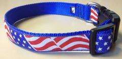 """1"""" USA Flag Adjustable Flat Collar"""