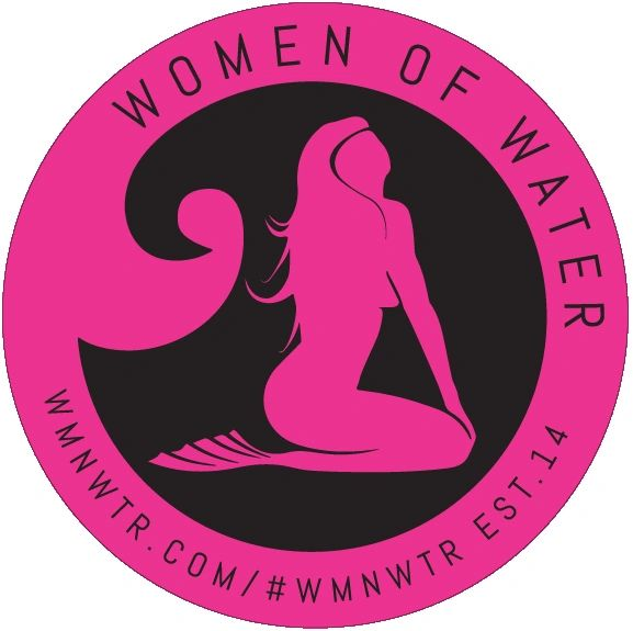 "Women Of Water 4"" Mermaid Emblem Sticker"
