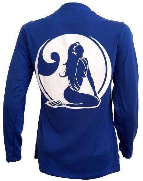 Mermaid Wave Long Sleeve Microfiber Performance Shirt