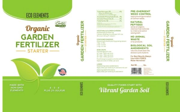 eco elements organic garden fertilizer starter 2 bag - Organic Garden Fertilizer