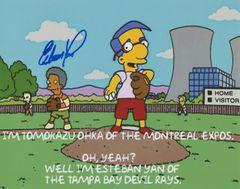 Esteban Yan autograph 8x10, The Simpsons **RARE**