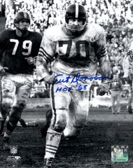 Art Donovan autograph 8x10, Baltimore Colts, HOF inscription