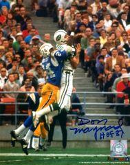 Don Maynard autograph 8x10, New York Jets, HOF inscription