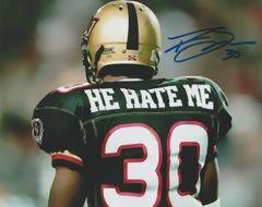 """Rod Smart autograph 8x10 XFL. """"He Hate Me"""""""