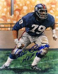 Roosevelt Brown autograph 8x10, New York Giants, HOF 75