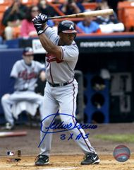 Julio Franco autograph 8x10, Atlanta Braves 3x A.S. inscription
