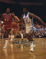 Phil Ford autograph 8x10, UNC Tarheels, 78 POY