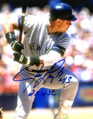 Jim Leyritz autograph 8x10, New York Yankees, Inscript/ 2x WSC