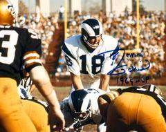 Roman Gabriel autographed 8x10, Los Angeles Rams, 1969 NFL MVP