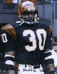 Ickey Woods autograph 8x10, Cincinnati Bengals, cool inscription