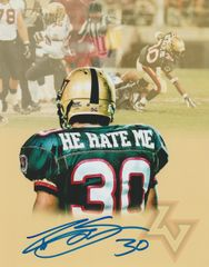 "Rod Smart autograph 8x10, XFL. ""He Hate Me"" (custom photo)"