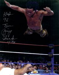 Jimmy Super Fly Snuka autograph 8x10, with inscription