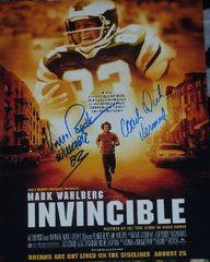 Dick Vermeil and Vince Papale autograph 11x14, Invincible