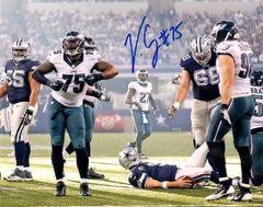 Vinny Curry autograph 8x10, Philadelphia Eagles, vs Cowboys