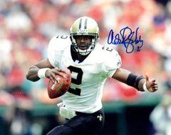 Aaron Brooks autographed 8x10, New Orleans Saints