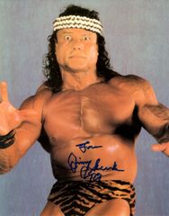 Jimmy Super Fly Snuka autograph 8x10, Wrestling