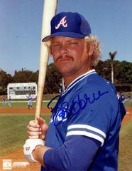 Bob Horner autograph 8x10, Atlanta Braves