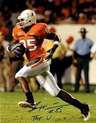 Leonard Hankerson autograph 8x10, Miami Hurricanes, The U