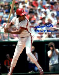 Manny Trillio, autographed 8x10, Philadelphia Phillies, 1980 WS Champs inscription