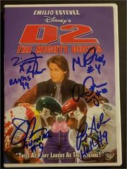 The Mighty Ducks D2 signed DVD: 5 actors, Matt Doherty, Brandon Adams, Scott Whyte, Vincent LaRusso, Garette Henson