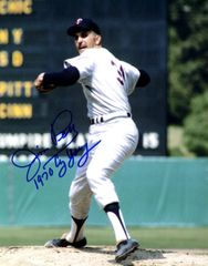 Jim Perry, autographed 8x10, Minnesota Twins, 1970 Cy Young inscription