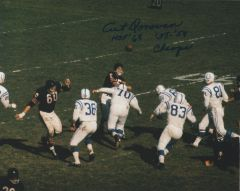Art Donovan auto 8x10, Baltimore Colts 2 inscriptions!