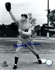 Mickey Vernon autograph 8x10, Washington Senators