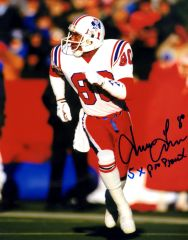 Irving Fryar autograph 8x10, New England Patriots, with inscription