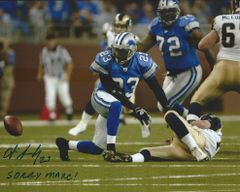 Otis Smith autograph 8x10, Detroit Lions with cool inscription