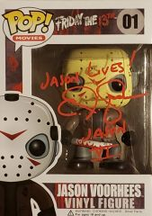 C.J. Graham autograph funko pop, Friday the 13th VI, Jason Voorhees