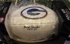 Boyd Dowler autograph FS w/panel football, Green Bay Packers