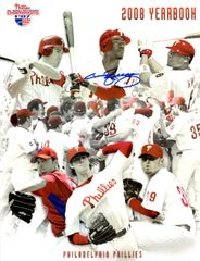 Jimmy Rollins autograph 2008 Yearbook, Philadelphia Phillies
