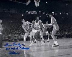 Gene Conley, autographed 8x10, Boston Celtics, 3x NBA Champs inscription