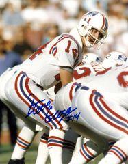 Steve Grogan autograph 8x10, New England Patriots