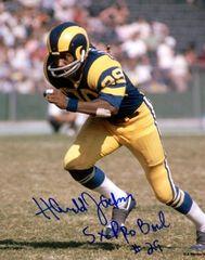 Harold Jackson autographed 8x10, Los Angeles Rams, 5x Pro Bowl