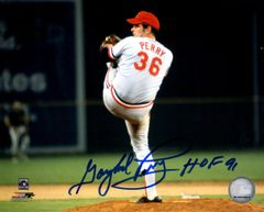 Gaylord Perry autograph 8x10, Cincinnati Reds, HOF 91