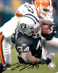 Lamont Jordan autograph 8x10, Oakland Raiders