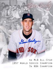 Gene Conley, autographed 8x10, Boston Red Sox, lithograph