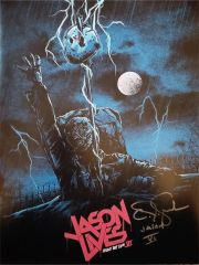 CJ Graham autograph 11x14 photo, Friday the 13th part VI, Inscription Jason VI