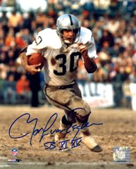 Mark Van Eeghen autograph 8x10, Oakland Raiders with inscription