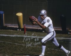 Ray Guy autographed 8x10, Oakland Raiders inscription HOF 2014