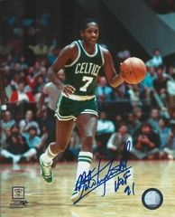 Nate Archibald autograph 8x10, Boston Celtics, HOF inscription