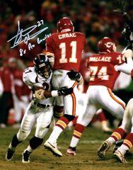 Autographed 8x10 Steve Atwater, Denver Broncos, 8x Pro Bowler