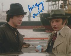 Burt Young autograph 8x10 with snow cone, Inscription: Paulie