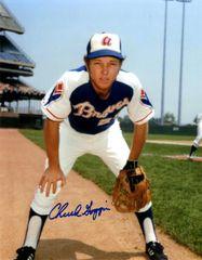 Chuck Goggin autograph 8x10, Atlanta Braves