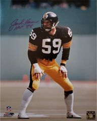 Jack Ham autograph 11x14, Pittsburgh Steelers, HOF inscription