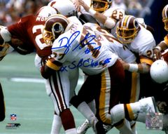 Darryl Grant autograph 8x10, Washington Redskins, 2x SB Champs