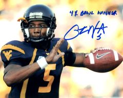 Pat White autograph 8x10, West Virginia, 4x Bowl Winner